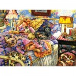 Puzzle  Sunsout-44242 Susan Brabeau - Pet Bed