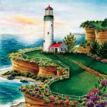 Puzzle  Sunsout-45622 XXL Teile - Lighthouse Sunset