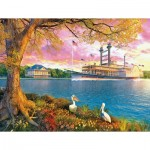 Puzzle  Sunsout-50030 XXL Teile - Mississippi Queen
