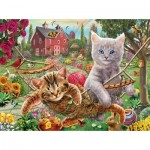 Puzzle  Sunsout-51820 XXL Teile - Cats on the Farm