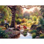 Puzzle  Sunsout-53074 Mark Keathley - The Clubhouse