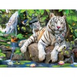 Puzzle  Sunsout-54944 XXL Teile - White Tigers of Bengal