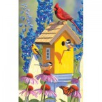 Puzzle  Sunsout-55975 Jeffrey Hoff - The Yellow Birdhouse