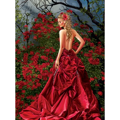 Puzzle Sunsout-67644 Nene Thomas - Tais in Red