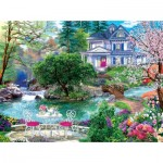 Puzzle  Sunsout-70630 XXL Teile - Waterside Tea