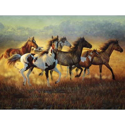 Puzzle Sunsout-70936 Cynthia Fisher - Running with the Wind