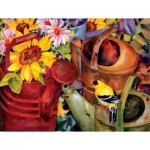 Puzzle  Sunsout-71047 XXL Teile - Watering Can Visitor