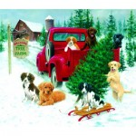 Puzzle  Sunsout-73419 Jim Killen - Christmas Tree Farm