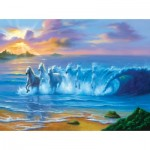 Puzzle  Sunsout-75551 Jim Warren - Wild Waves