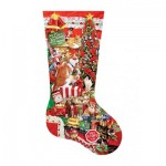 Puzzle  Sunsout-96014 XXL Teile - Lori Schory - Kitty Stocking