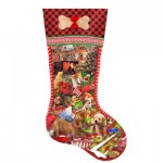 Puzzle  Sunsout-96028 XXL Teile - Lori Schory - Puppy Stocking