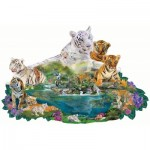 Puzzle  Sunsout-96108 Alixandra Mullins - Tigers at the Pool