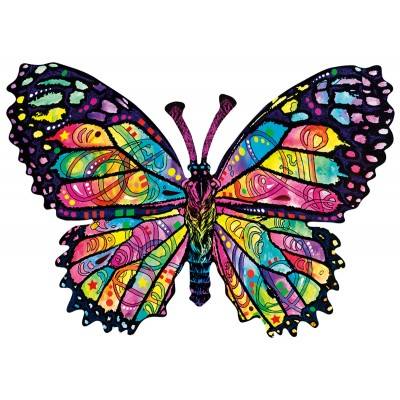 Puzzle Sunsout-97260 Dean Russo - Stained Glass Butterfly