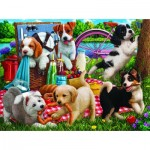 Puzzle   Puppies on a Picnic