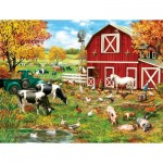 Puzzle   XXL Teile - A Day on the Farm
