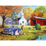 Puzzle   XXL Teile - Family Time by the River