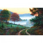 Puzzle   XXL Teile - Morning at Cades Cove