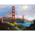 Puzzle   XXL Teile - Morning at the Golden Gate