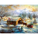 Puzzle   XXL Teile - Over the Covered Bridge