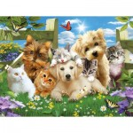 Puzzle   XXL Teile - Pups n Kittens