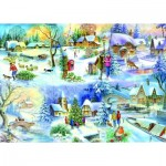 Puzzle  The-House-of-Puzzles-1622 XXL Teile - Snowy Afternoon