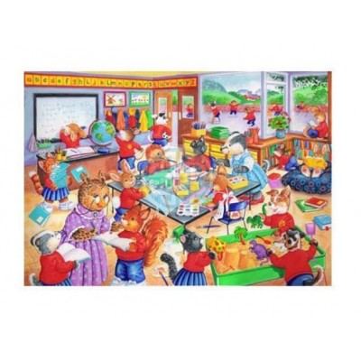Puzzle The-House-of-Puzzles-1868 XXL Teile - School Days
