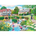 Puzzle  The-House-of-Puzzles-4104 XXL Teile - Duck Pond