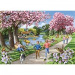 Puzzle  The-House-of-Puzzles-4326 XXL Teile - Apple Blossom Time