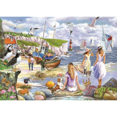 Puzzle The-House-of-Puzzles-4937 XXL Teile - Sea Shore Breezes