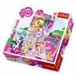 Trefl-34190 3 Puzzles - My Little Pony
