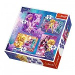Trefl-34275 4 Puzzles - Star Darlings