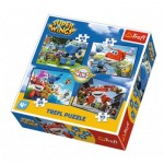 Trefl-34280 4 Puzzles - Super Wings
