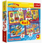 Trefl-34376 4 Puzzles - Super Things Secret Spies