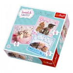 Trefl-34809 3 Puzzles - Sweet & Lovely