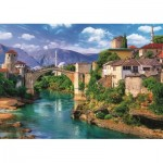 Puzzle  Trefl-37333 Old Bridge in Mostar, Bosnia and Herzegovina
