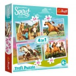4 Puzzles - Dreamworks - Spirit Riding Free