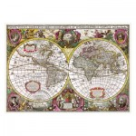 Puzzle   A New Land and Water Map of the Entire Earth, 1630