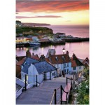 Wentworth-501305 Holzpuzzle - Joe Cornish: Whitby Harbour, Summer Twilight