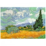Wentworth-720904 Holzpuzzle - Van Gogh - Wheat Field with Cypresses