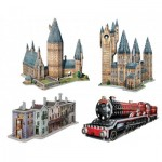 Wrebbit-Set-Harry-Potter-1 4 3D Puzzles - Set Harry Potter